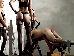 Long whipping and caning by..