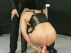 Master lets horny blond..