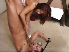 FEMDOM hand job and cum in..